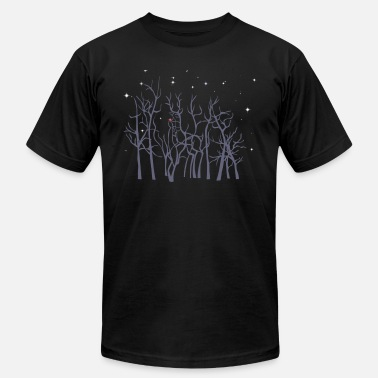 Christmas Roudolf in the Woods - Men's Jersey T-Shirt