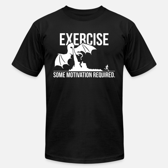 Exercise T-Shirts - Exercise - Some Motivation Required - Dragon - Unisex Jersey T-Shirt black