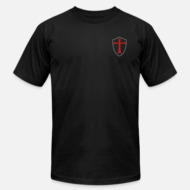 Crusader knights templar shield - Men's Jersey T-Shirt