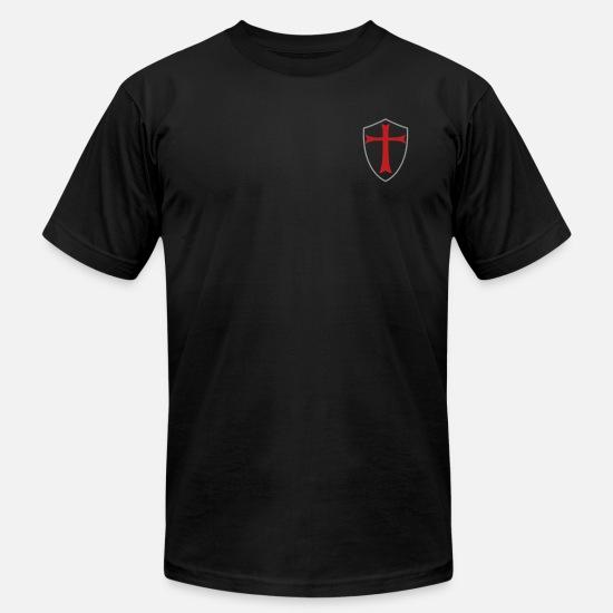703d63d82 knights templar shield Men's Jersey T-Shirt   Spreadshirt