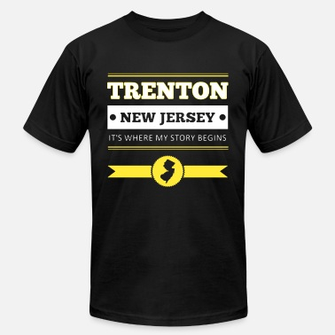 trenton new jersey its where my story begins meric - Men's Fine Jersey T-Shirt