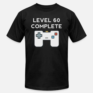 60th Completed Level 60 Complete 60th Birthday - Men's  Jersey T-Shirt