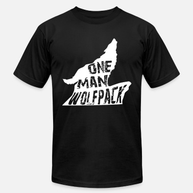 One Man Wolf Pack Lifetime Wolf Pack Member One Man Wolf Pack Wolf T - Men's  Jersey T-Shirt