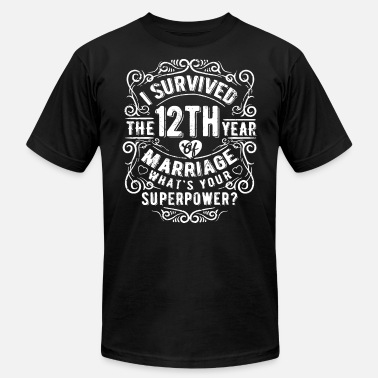 I Love Su & I survived the 12th year of marriage whats your su - Men's  Jersey T-Shirt