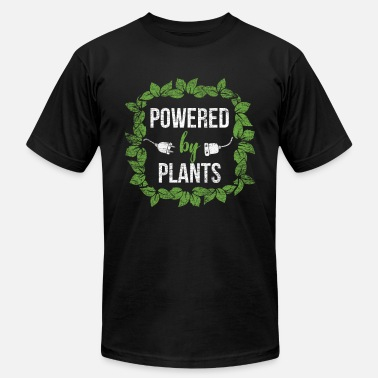 Power Plant Powered by plants - Men's Jersey T-Shirt