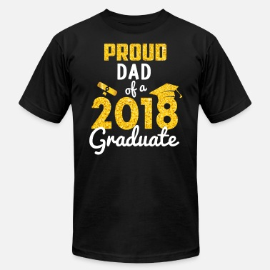 Graduate Dad Proud Dad of a 2018 Graduate - Men's  Jersey T-Shirt