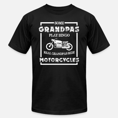 Grandfather Motorcycle Grandpa Grandfather Motorcycle Biker Road Gift - Unisex Jersey T-Shirt