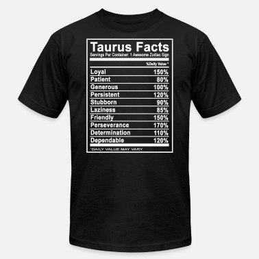 Taurus Clothing Taurus - Taurus - taurus facts t shirt - Men's Jersey T-Shirt