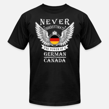 Federal Republic Of Germany German - THe power of an German in canada - Men's Fine Jersey T-Shirt