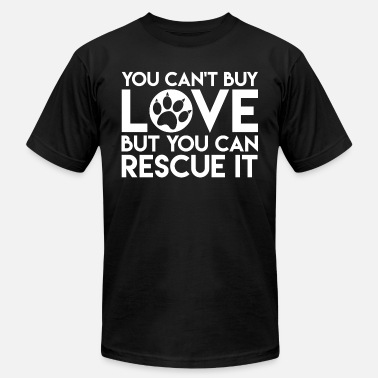 Peter Tosh Pet - You can't buy love but you can rescue love - Men's  Jersey T-Shirt