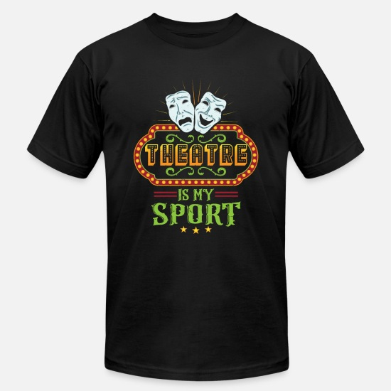 Theater T-Shirts - Theater Is my sport theater mask - Men's Jersey T-Shirt black