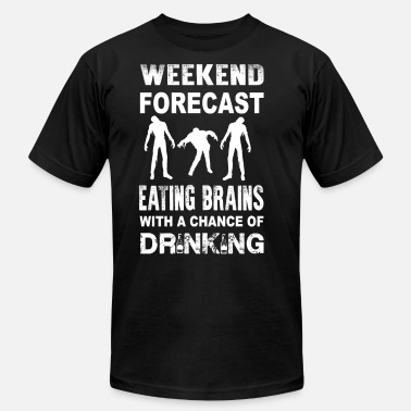 Black Ops Zombies Zombie - Weeken forecast zomebie eating brains - Men's  Jersey T-Shirt