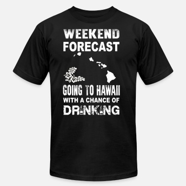 Picole Weekend forecast - Going to hawaii to drink - Men's Fine Jersey T-Shirt