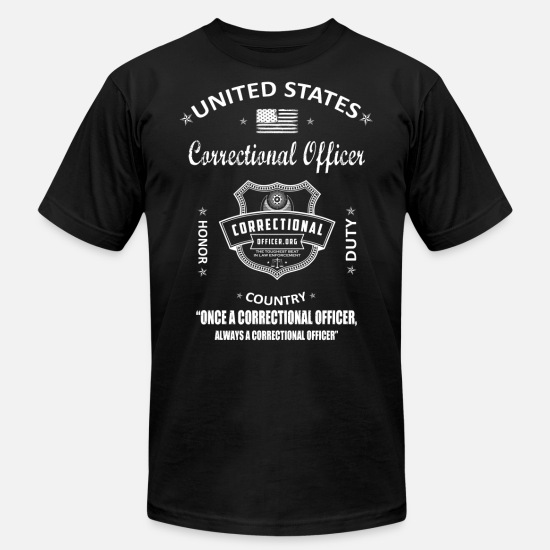 Wife T-Shirts - correctional officer funny, correctional officer, - Unisex Jersey T-Shirt black