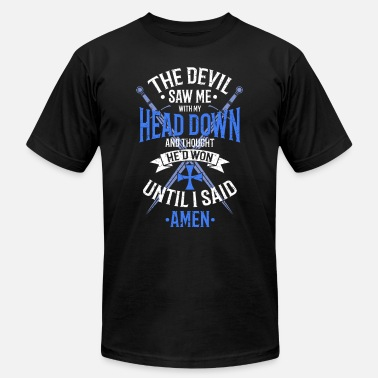 Blue Devil The Devil Saw Me With My Head Down White/Blue - Men's Jersey T-Shirt