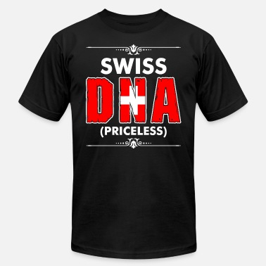 Flag Swiss Swiss DNA Priceless - Men's  Jersey T-Shirt