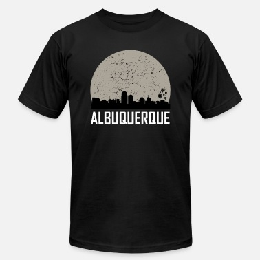 Albuquerque Albuquerque Full Moon Skyline - Men's  Jersey T-Shirt