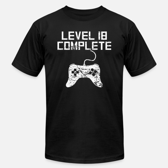 Birthday T-Shirts - Level 18 Complete 18th Birthday - Men's Jersey T-Shirt black