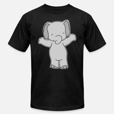 Kids Picture Cute elephant kids picture - Unisex Jersey T-Shirt