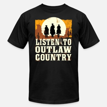 Vintage Country Music Listen To Outlaw Country Music - Men's  Jersey T-Shirt