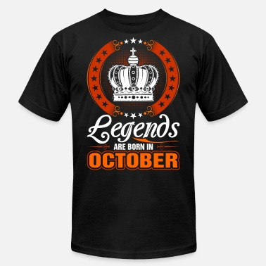 Legends Are Born In October - Unisex Jersey T-Shirt