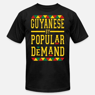 Popular Culture GUYANAESE BY POPULAR DEMAND - Men's  Jersey T-Shirt