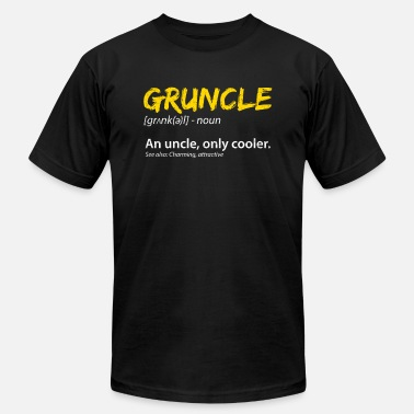 Nephew Gruncle Definition Great Uncle Family Niece Nephew - Men's Jersey T-Shirt