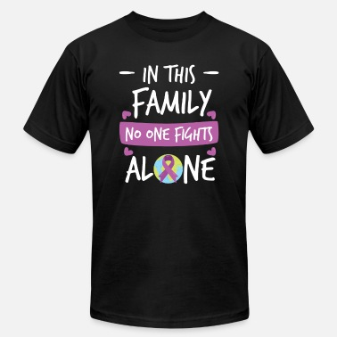 Pink Ribbon In this Family no one fights alone Pink Ribbon - Men's Jersey T-Shirt