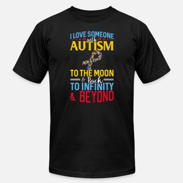 Autism - I Love Someone With Autism To The Moon I love someone with Autism - Men's Jersey T-Shirt