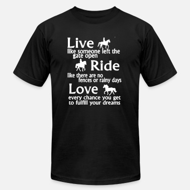 Toddler Customized Toddler Sized Love Horse Shirt - Men's  Jersey T-Shirt