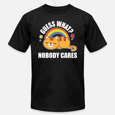 7e69f207b Guess What, Nobody Cares! Funny Meme Kitty Cat Edition - Men'. Men's Jersey  T-Shirt