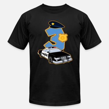 3rd Birthday 3rd Birthday Police 3 Years Officer Costume Gift - Men's Jersey T-Shirt