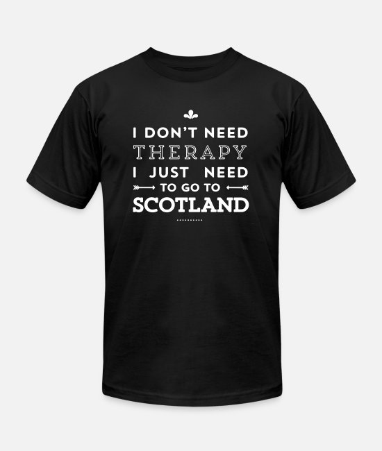 In Therapy T-Shirts - Therapy Scotland Shirt - Unisex Jersey T-Shirt black