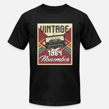54th Birthday Gift 54th Birthday Gifts Retro Vintage November 1964 - Men's  Jersey T-Shirt