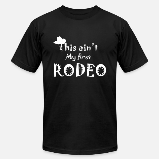 Gift Idea T-Shirts - Western Riding Reining Rider horse love gift - Men's Jersey T-Shirt black