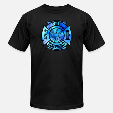 Queens Country Music Tie Dye Fire Department Fist responder - Men's  Jersey T-Shirt