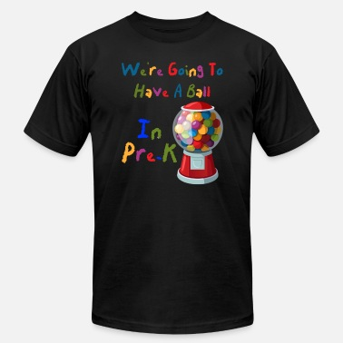 Pre-k Teacher Going To Have A Ball In Pre K Rainbow Back To School - Men's Jersey T-Shirt