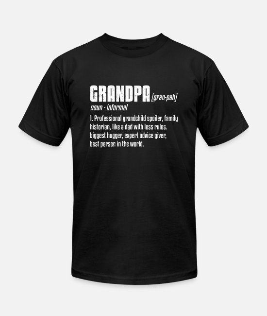Grandpa T-Shirts - Grandpa Definition Funny Grandfather Family Gift - Unisex Jersey T-Shirt black