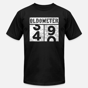 39 Birthday Gift Ideas Oldometer 40th Birthday Counting Shirt - Men's  Jersey T-Shirt