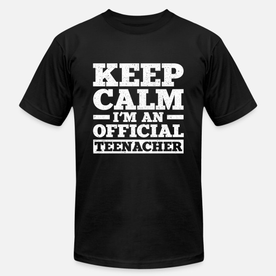 Teenager T-Shirts - Keep Calm I'm An Official Teenager T-Shirt - Men's Jersey T-Shirt black