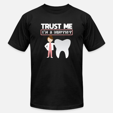 Scan Me Funny Dentist Quote - Trust Me Im A Dentist Gift - Men's Jersey T-Shirt