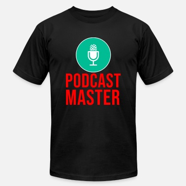 Funny Podcasts Podcast Master Podcasting Podcaster Microphone - Men's Fine Jersey T-Shirt