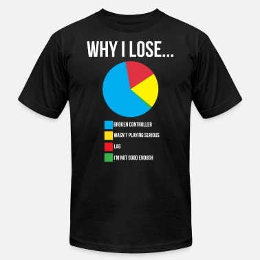 Lose Why I lose Funny Video Gaming T-shirt - Unisex Jersey T-Shirt