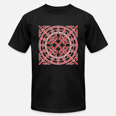 Romanesque Medieval romanesque wreath square - Unisex Jersey T-Shirt