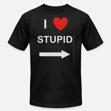 Stupid Heart i heart stupid - Men's  Jersey T-Shirt