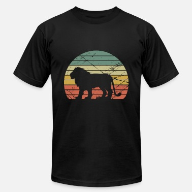 Lion Dog Sunset Lion, Vintage Lion, Lion - Unisex Jersey T-Shirt