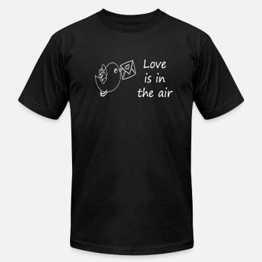 Horst Love is in the air bird wing sparrow beep love - Men's  Jersey T-Shirt