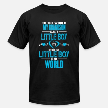 Grandpa And Grandson Grandson Means World To Me v2 - Men's  Jersey T-Shirt