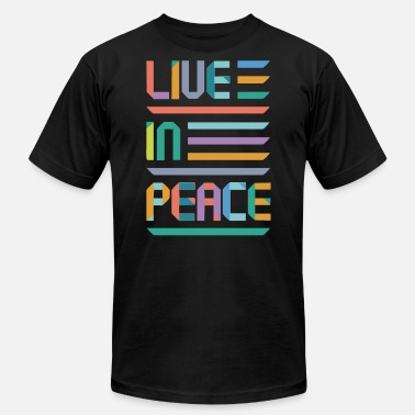 Slogan Symbols Live in peace Funny Slogan - Men's  Jersey T-Shirt