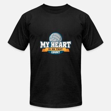 Heart Attack My Heart Is On That Field Volleyball Mom Game Gift - Men's  Jersey T-Shirt